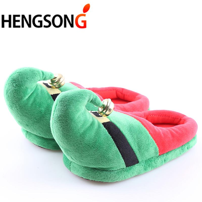 Christmas Couple Kids Family Warm Winter Slippers Cotton Super Soft ...