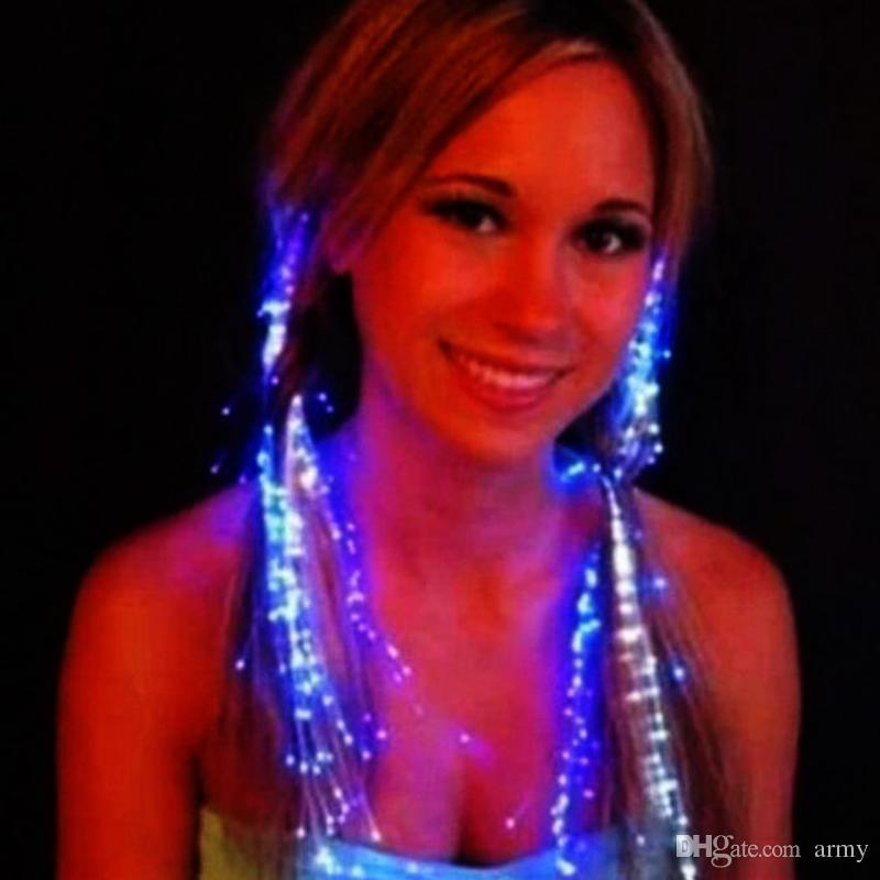 Luminous Light Up Led Hair Extension Flash Braid Party Girl Hair