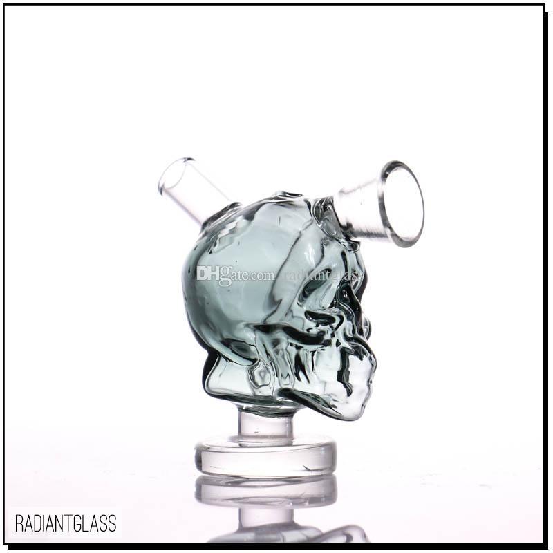Mini Schädel Bong Glas Shisha Bubbler Rauchzubehoer Kleine Wasserpfeife Kleine Rohre Hand Pfeifenkopf