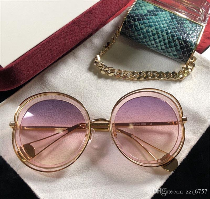 a8d7d30d2298 New Fashion Women Sunglasses Big Round Frame Metal Rim 3803 Women ...