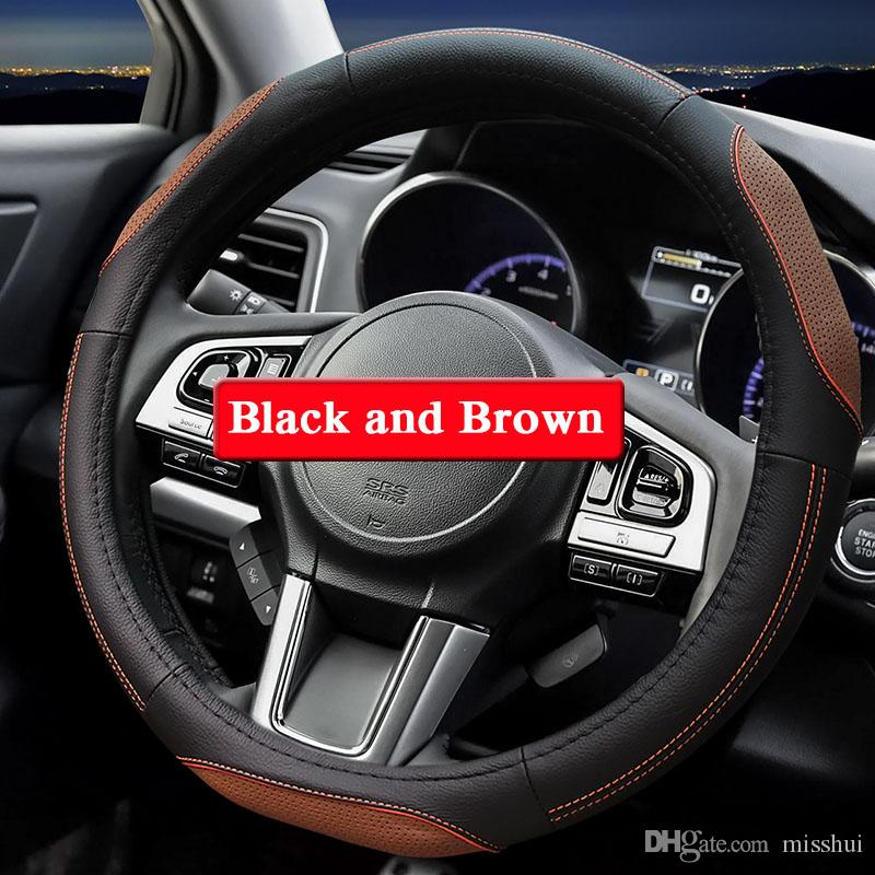 Subaru XV 2018-2019 Için QCBXYYXX Araba Styling Direksiyon Kapağı Direksiyon Deri direksiyon-İç İç aksesuar Kapakları