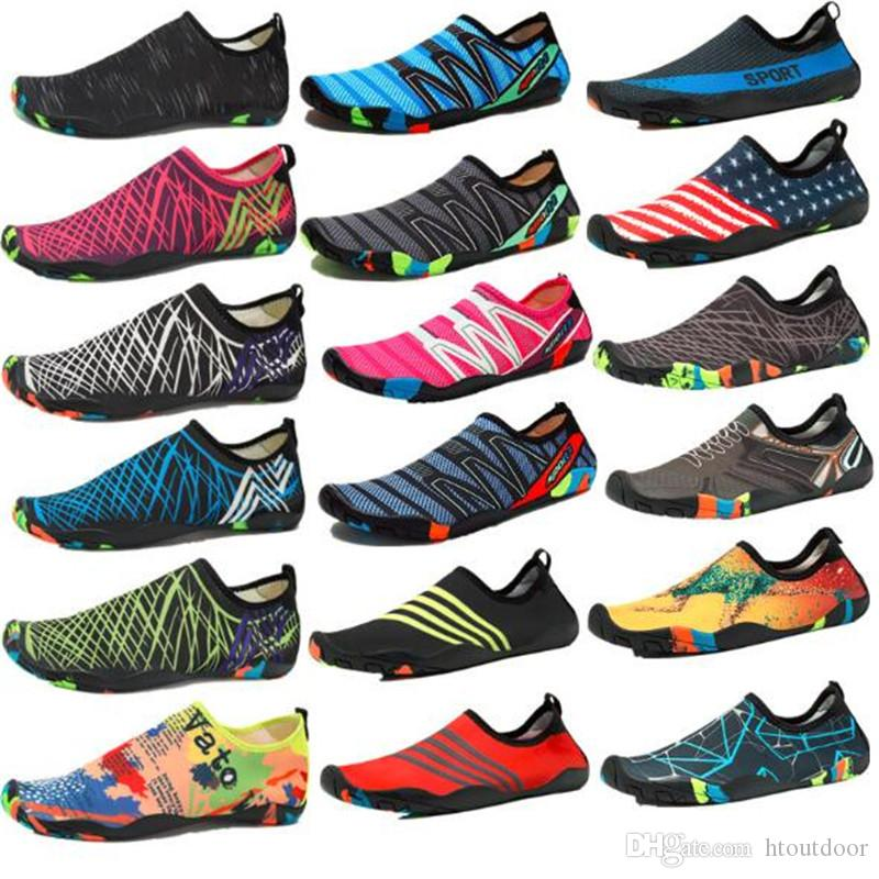 7f986cd1b 2019 Mens Womens Water Shoes Quick Dry Barefoot Aqua Skin Socks Pool Swimming  Beach Diving Wading Outdoor Shoes From Htoutdoor