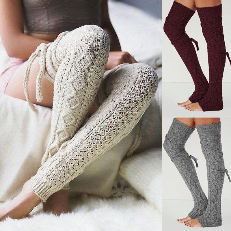 купить оптом сша женщины зима теплая чулок вязание крючком вязаные