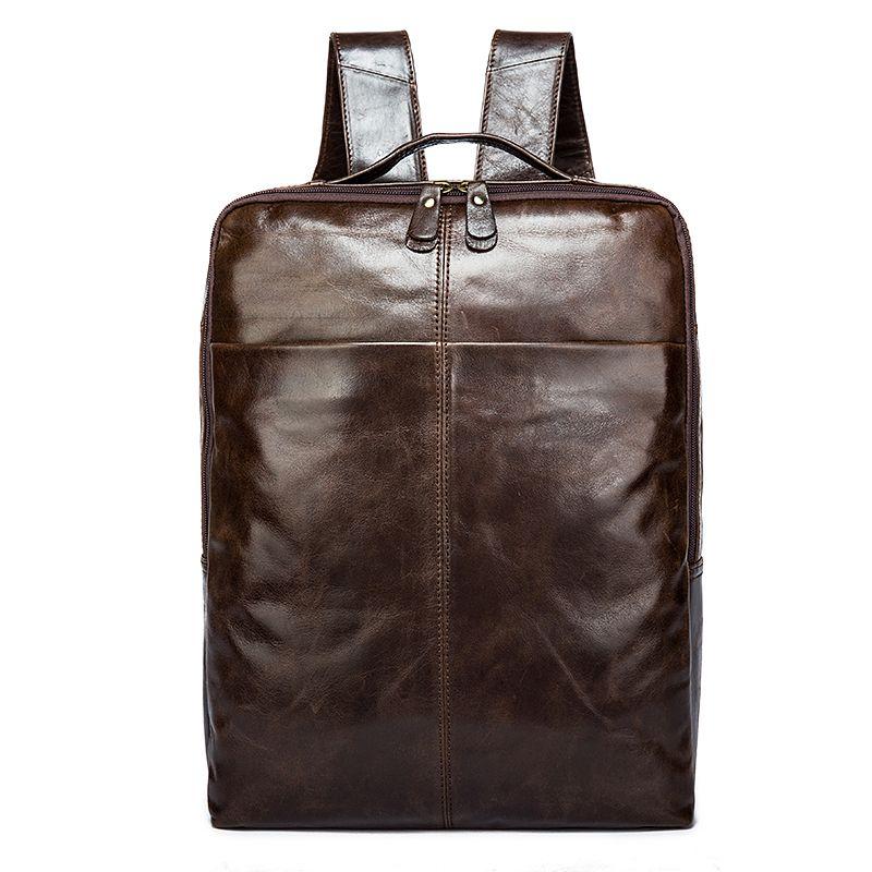 ce6c5ae89d3d Men Backpacks 100% Genuine Leather Backpack Men s Brand Designer ...