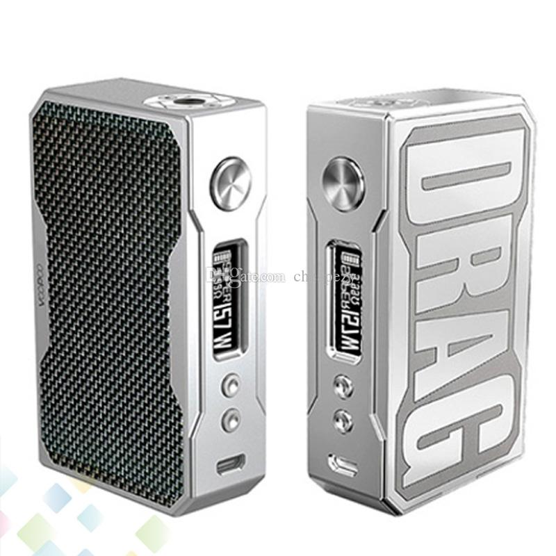 Authentic Voopoo Drag 157W Box Mod Carbon Fiber Edition Instant Fire Vape Mod E Cigarette Fit 18650 Battery DHL Free