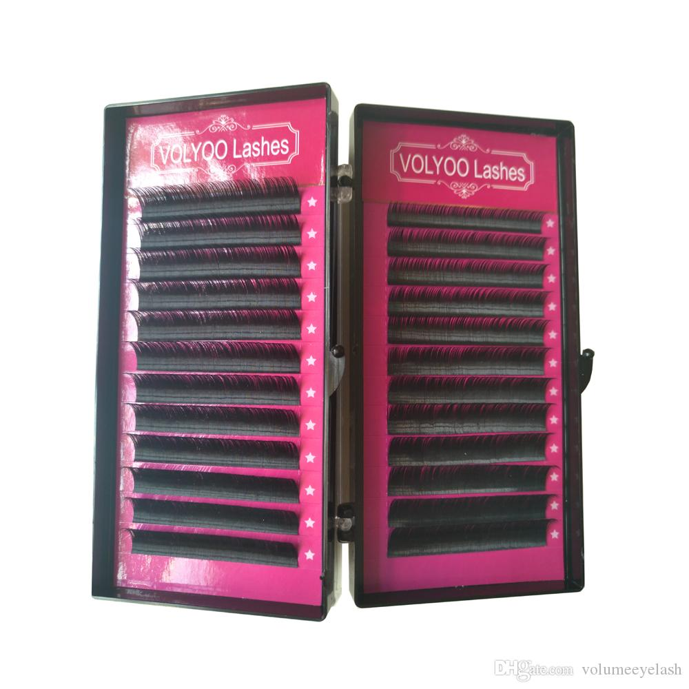 All sizes,12rows/case,8~14mm mix in one tray, high quality synthetic mink,natural mink,individual eyelash extension