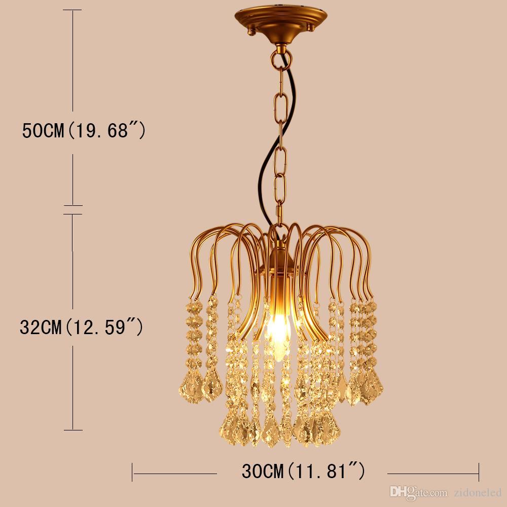 الأمريكية الكلاسيكية الحديد أضواء الكريستال الثريا k9 كريستال قلادة الإضاءة ثريات الذهبي ديكور المنزل حامل e14