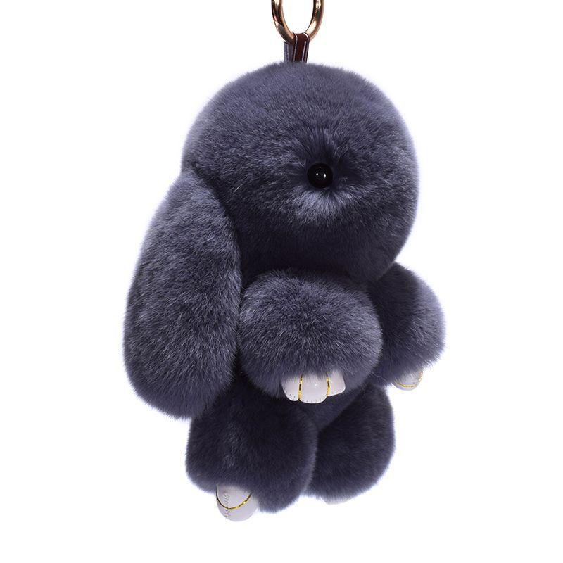 18cm Rabbit Keychain Cute Fluffy Bunny Keychain Rex Genuine Rabbit Fur  Pompom Key Ring Pom Pom Toy Doll Bag Charm Car Key Holder Couple Keychain  ... 44e1ca5a714a6