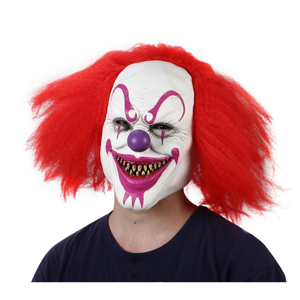 Compre Máscara De Payaso De Miedo Para Halloween Máscara De Payaso De Látex  Horrible Con Pelo Para Adultos Devil Flame Máscara De Zombie A  31.78 Del  ... 8c3086490be6