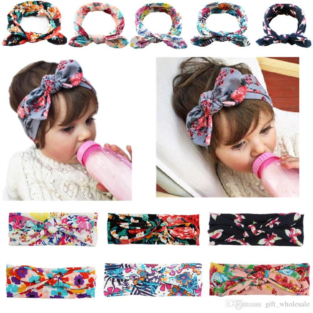 Bohemian Headband Cotton Girl Baby Bowknot Flower Turban Twist Head Wrap  Twisted Knot Soft Hair Band Kids Headbands Bandanas Headbands Hair  Accessories ... b9eec3a38e3