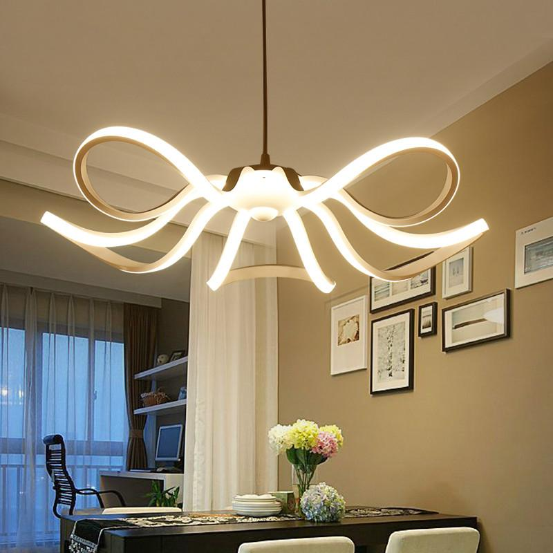 Modern Flower Led Pendant Lights Kitchen Acrylic+Metal Suspension Hanging  Ceiling Lamp For Dinning Room Lamparas Colgantes Hand Blown Glass Pendant  Lights ...
