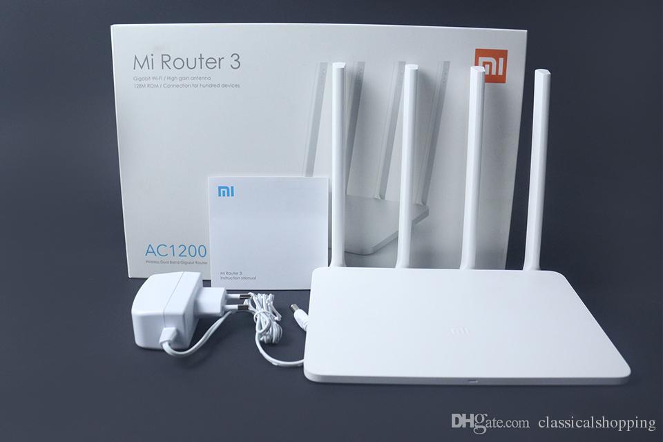 Original Xiaomi WiFi Router 3 Versão do Firmware Inglês 2 4 G / 5 GHz WiFi  Repetidor 128 MB APP Controle Wi-Fi Roteadores Sem Fio
