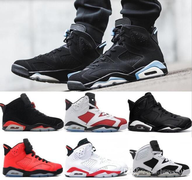 a5a11bf32e7d79 Cheap 2018 6 6s Basketball Shoes Men Unc Black Cat Infrared Sports Blue  Maroon Olympic Alternate Hare Oreo Chrome Angry Bull Sneakers Carmelo  Anthony Shoes ...
