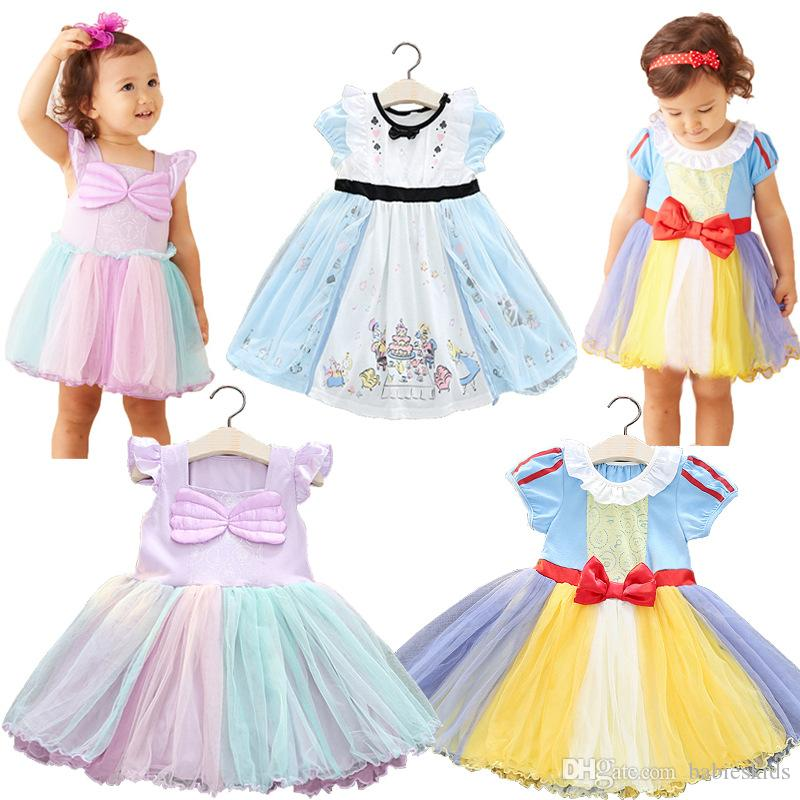 023283fa4 Bebés Vestidos formales Venta caliente Encaje Falda Tutu Navidad Boda  Princesa Fiesta Pageant Vestido formal Pajarita Vestido de niña Vestidos