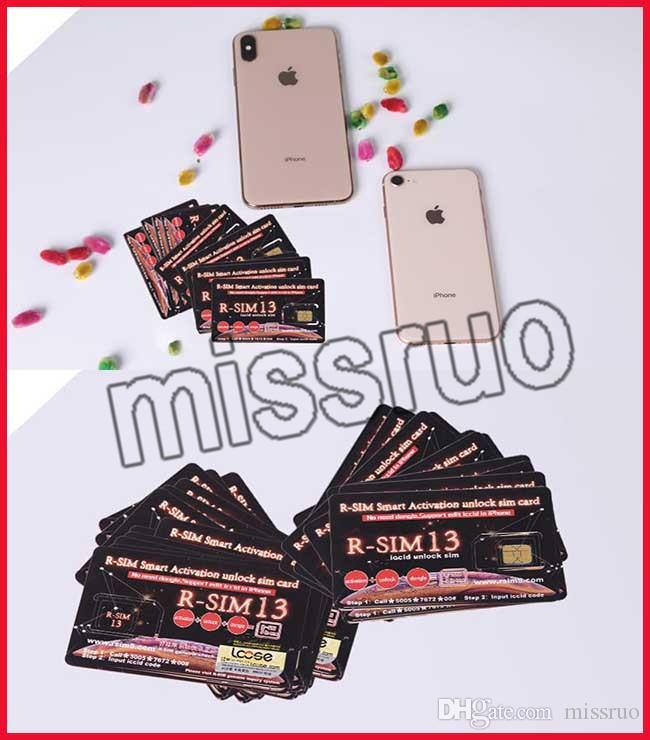 R-SIM 13 RSIM13 rsim 13 unlock card for ios12 iPhone Max XR X RSIM13 Smart  Activation unlock sim card iccid unlocking iPhone 6 7 8 IOS12