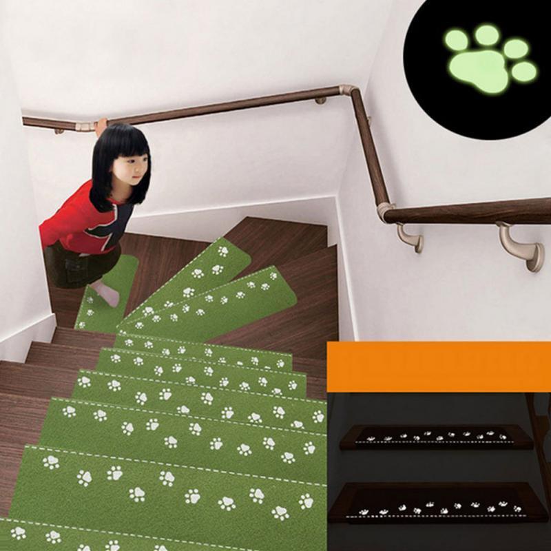 Grosshandel Startseite Licht Emittierende Treppe Fussabdruck Muster