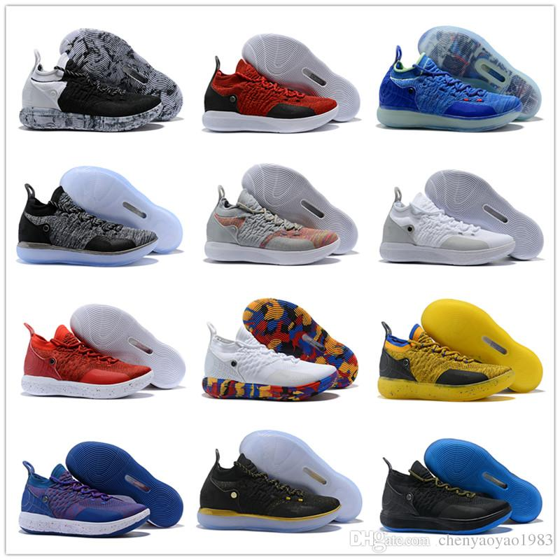 2018 KD XI 11 EP Oreo Black Gold Sports Basketball Shoes for Top Quality  Mens Kevin Durant 11s Trainers Designer Sneakers Size 40-46 Kevin Durant  11S KD XI ...