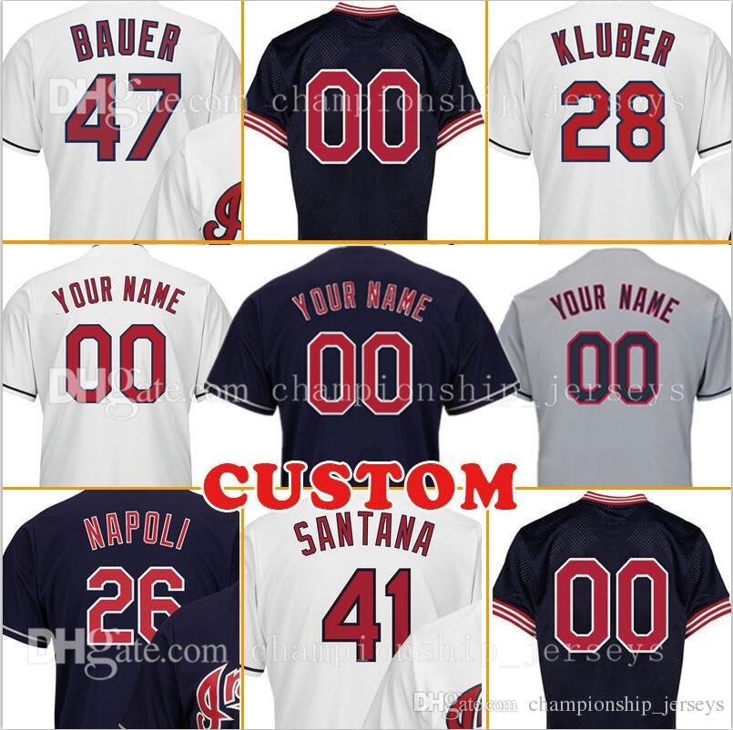 the latest d98c0 54751 ... 41 carlos santana navy blue alternate 2016 world series bound stitched  youth ireland mlb cleveland indians 46 salute to service 2018 mens cutsom  ...