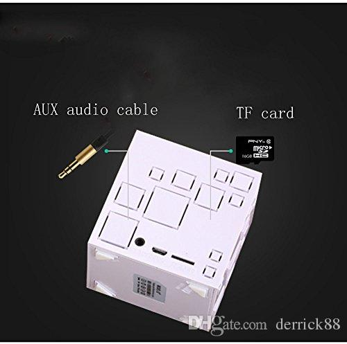 Mini Portable 3W 500 mAh Bluetooth4.0 Wireless FM Radio Square Speaker with Built-in Mic Micro SD TF Card Slot for Bluetooth Devices