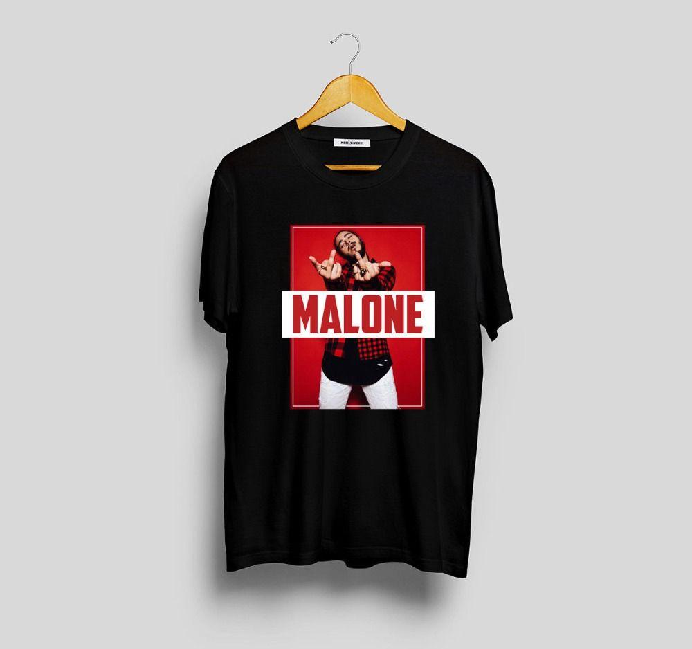 2018 Short Sleeve Cotton T Shirts Man Clothing POST MALONE NEW T Shirt M F  WHITE Post Malone Stoney Shirt Merch Funny Team Shirts Trendy T Shirts For  Men ... 5aae0fcdf