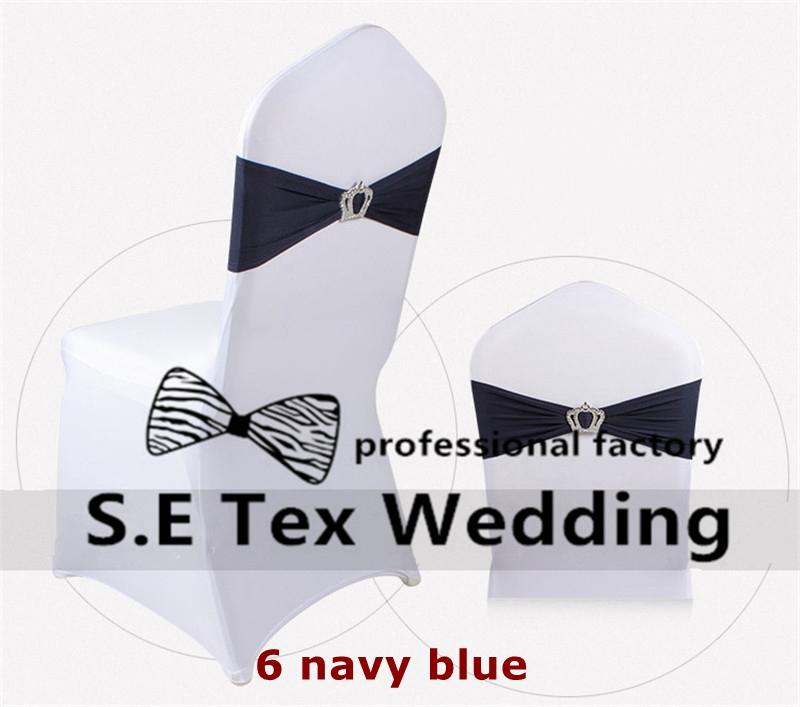 Cheap Price White Banquet Chair Cover For Wedding And Strech Lycra Spandex Chair Band \ Chair Sash With Buckle