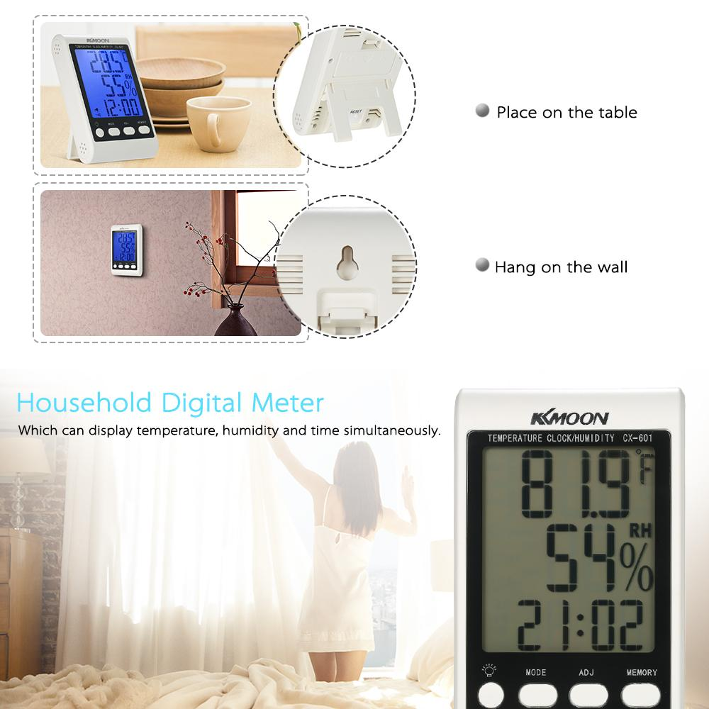 Digital Thermometer Hygrometer Temperature Humidity Meter weather station temperature instruments Alarm Clock Backlight