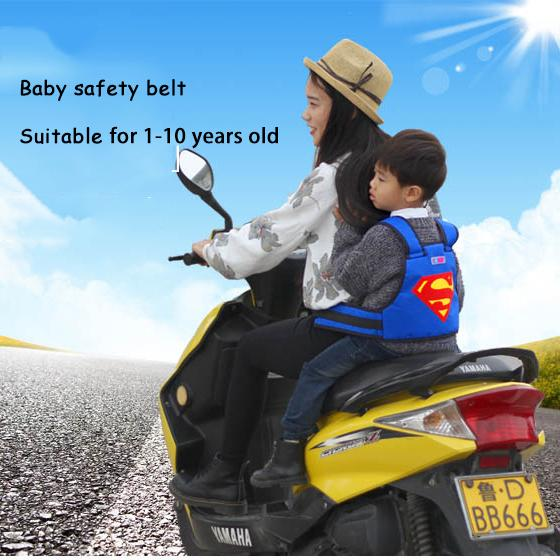1a036e296ddb0 Children Safety Harness Kids Boys Girls Backseat Security Sling for Riding  Bike Motorbike Use Baby Motorcycle Backpack Belt