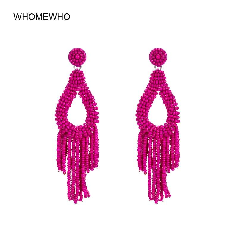 ba21824e2e763c 2019 Indian Handmade Seed Beads Bohemia Tassel Drop Earrings Summer Beach  Accessories Tribal Women Bridal Party Wedding Jewelry From Shuangyin004, ...