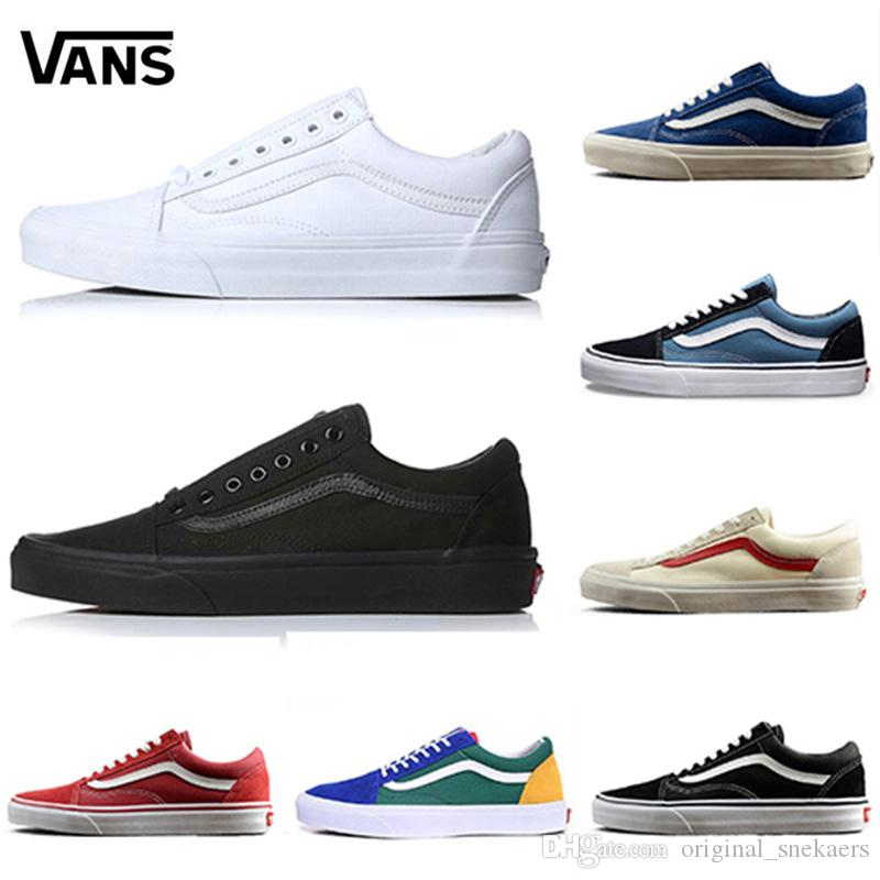 2018 New Athentic Wans Classic Old Skool Canvas Mens Skateboard Designer  Sports Running Shoes For Men Sneakers Women Casual Trainers Cute Shoes Mens  Shoes ... ce4976b3d