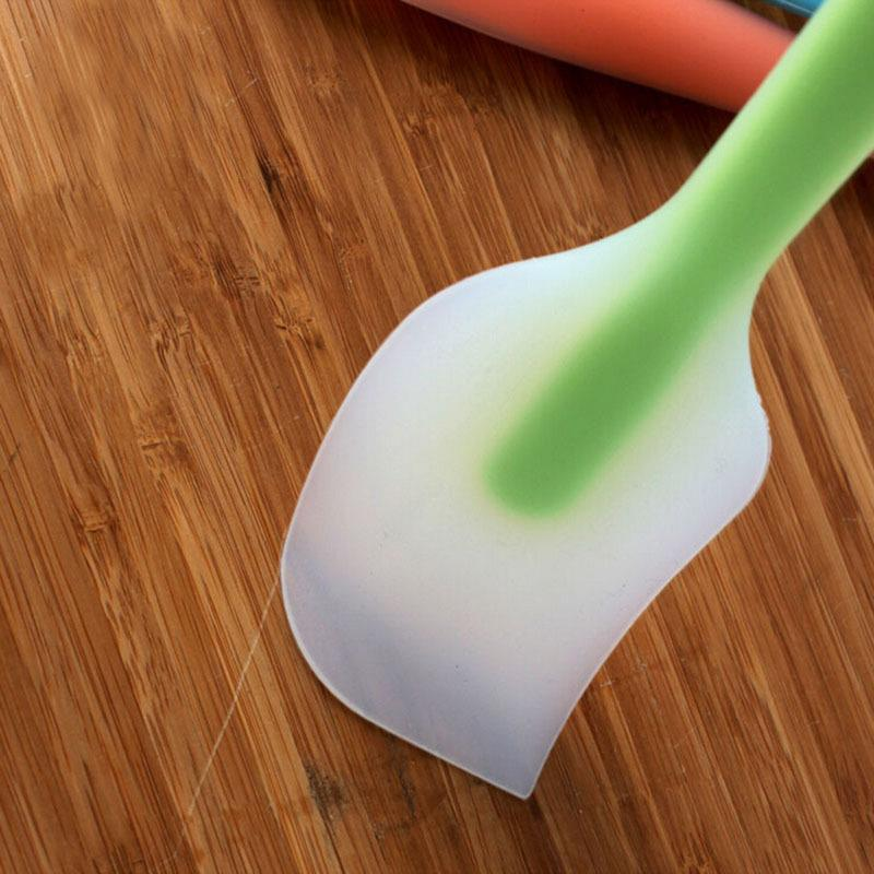 6 ألوان متكاملة شفافة سيليكون كعكة كريم زبدة ملعقة مكشطة ضجة كعكة إناء ملعقة فرشاة خلط سكين أدوات الطبخ المعجنات