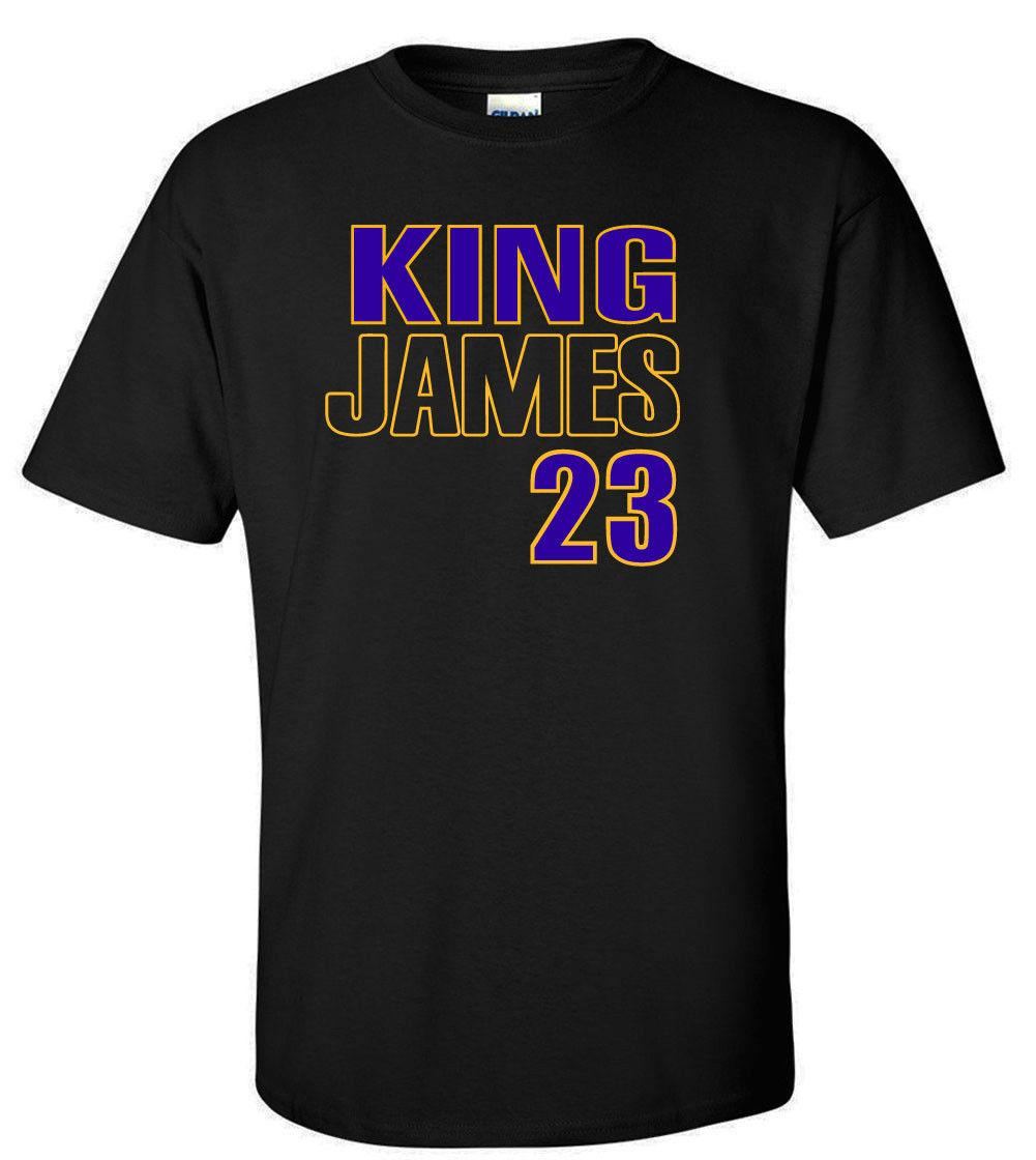 dbfe797a774 BLACK Lebron James Los Angeles Lakers King James 23 T Shirt Awesome T Shirts  For Sale White T Shirts With Designs From Printedtshirt