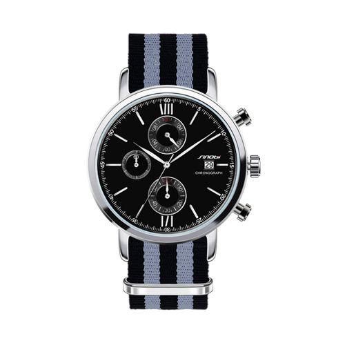 b2be675210a Großhandel SINOBI Sport Chronograph Herren Armbanduhren NATO Armband Nylon  Armband Luxus Militär Herren Genf Quarzuhr James Bond 007 Von Watchguys