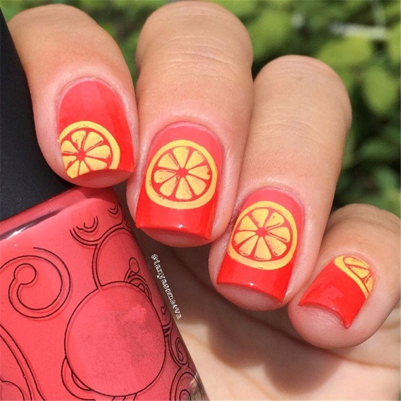 Plate Belt Cute Fruit Design Stamp Stencils for Nails BORN PRETTY 6 ...
