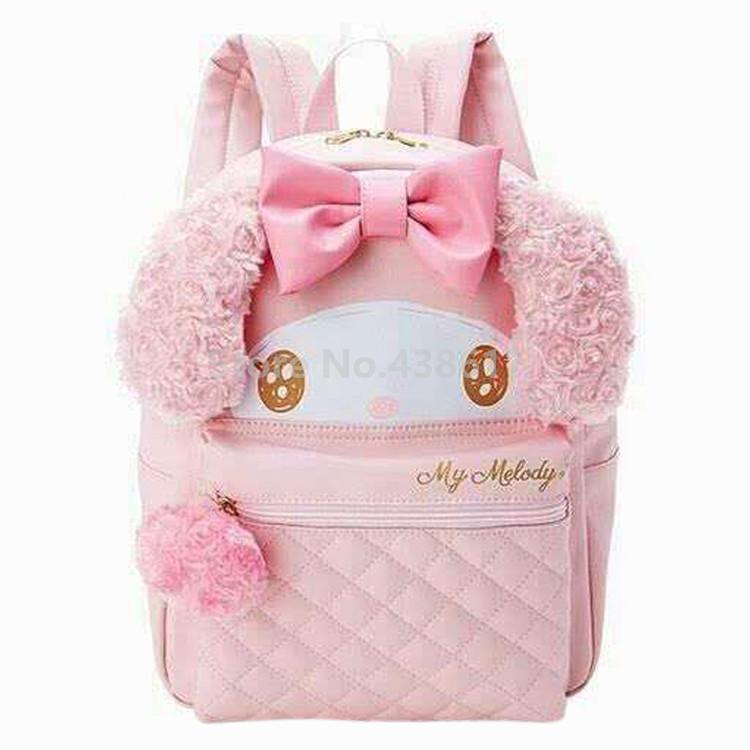 0689622e83f3 Cartoon Cute Pink My Melody Girls PU Plush School Bag Kids Backpack Bags  For Children Women Backpacks For Men Jansport Big Student Backpack From  Bestname