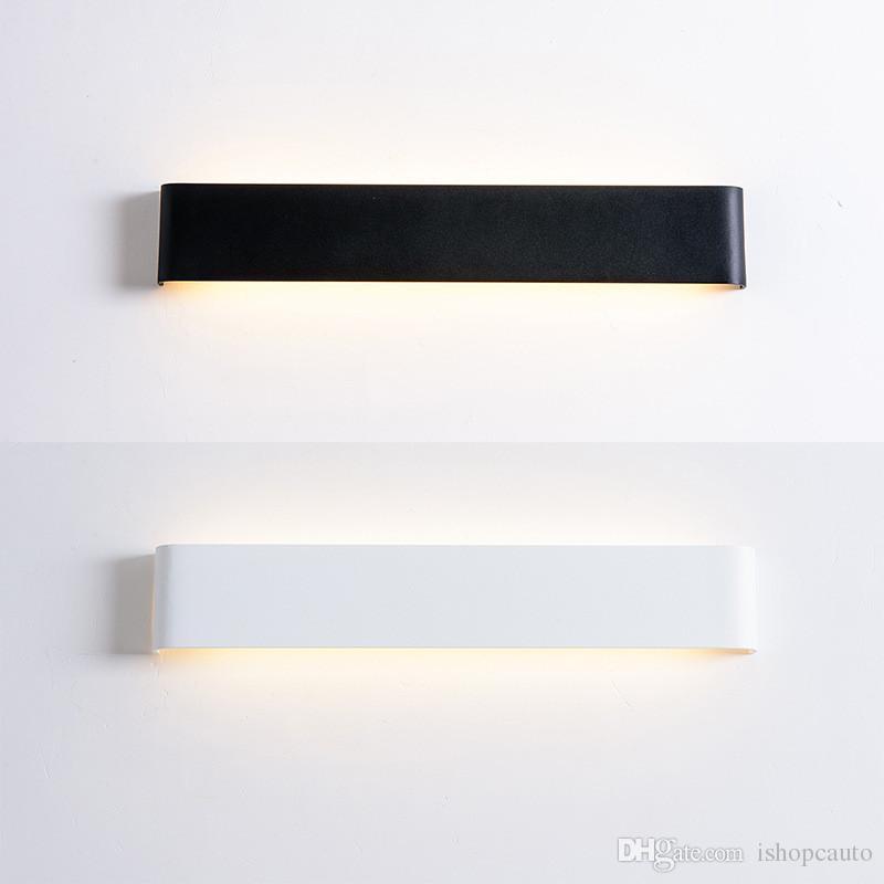 Modern minimalist LED alüminyum duvar lambası başucu lambası oturma odası yatak odası koridor yaratıcı duvar lambası banyo aynası farlar