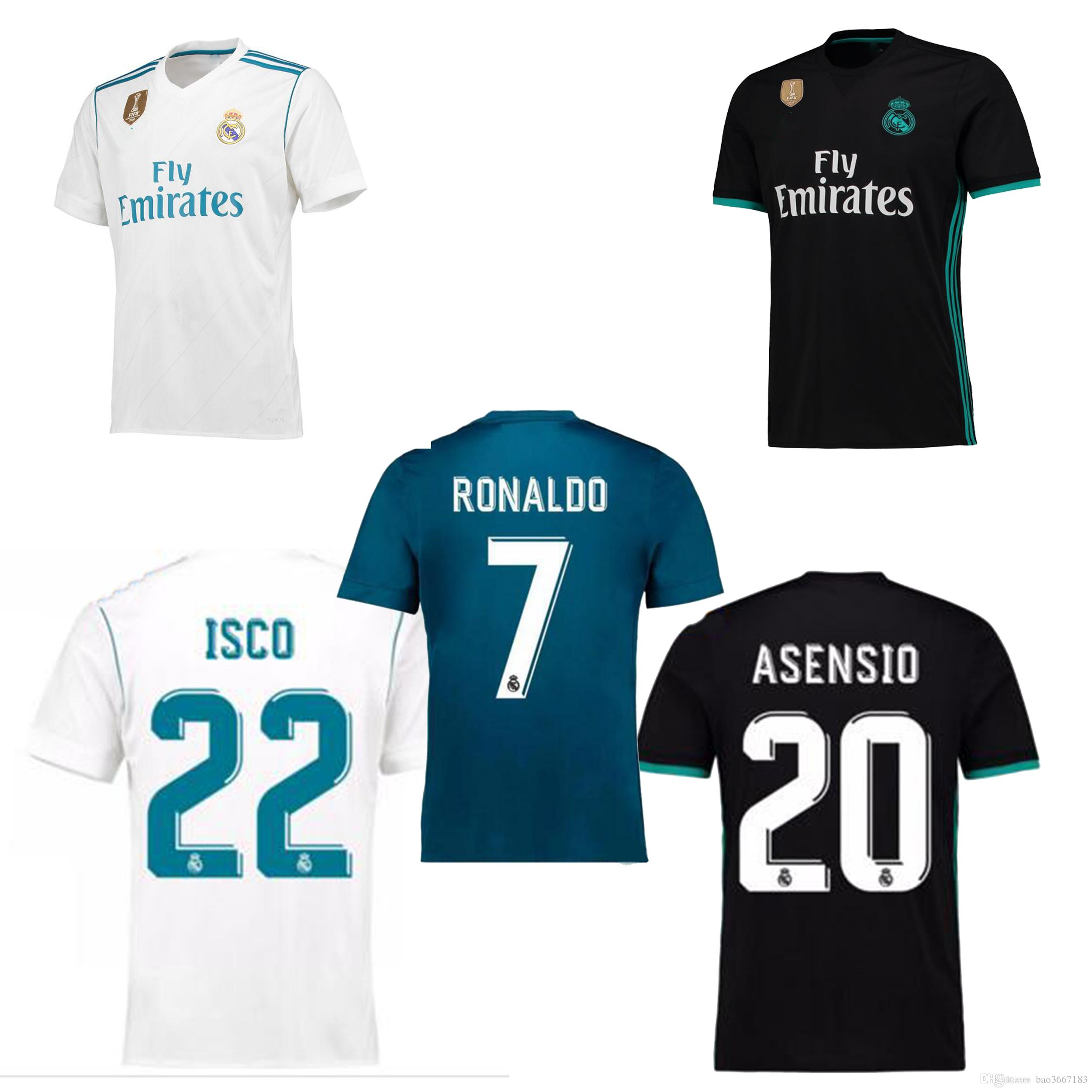 2018 real madrid soccer jersey 2017 18 real madrid home away 3rd soccer jerseys 17 18 ronaldo asensioisco kroos modric football jeresys real madrid so