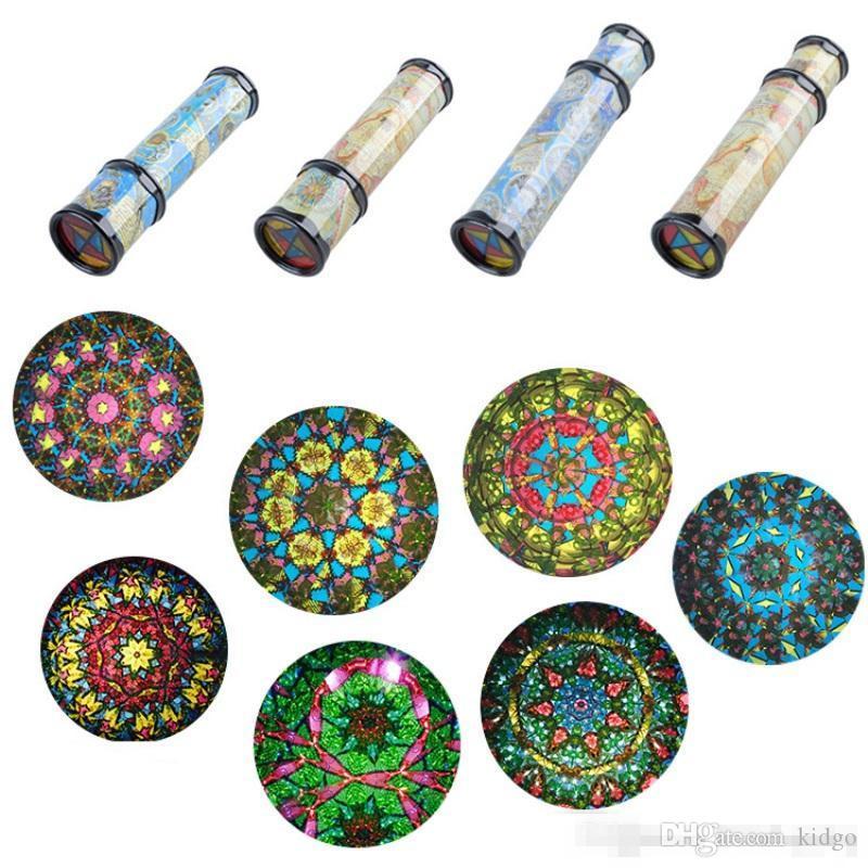 30cm grand kaléidoscopes rotatif évolutif étendu rotation réglable fantaisie couleur monde bébé jouet enfants autisme jouet pour enfant K0079