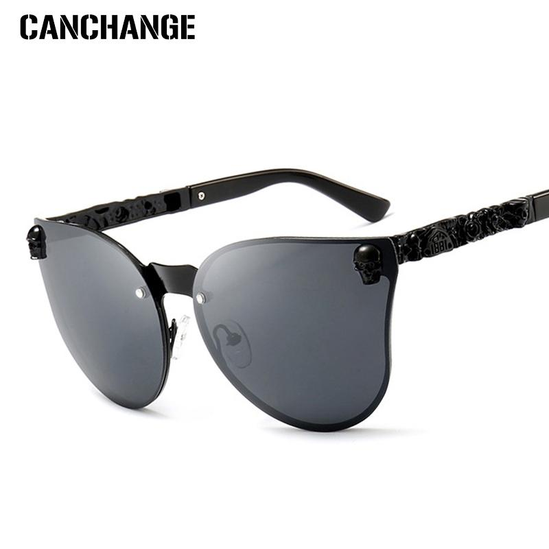 3549d8999812d CANCHANGE Cat Eye Sun Glasses Women Shopping Driving Sunglasses Ladies  Framless Glasses Female Oculos Cat Eye Eyewear UV400 Prescription Glasses  Online ...