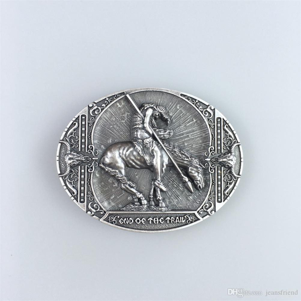 New Vintage Silver Plated End Of The Trail Native American Western Oval  Belt Buckle Gurtelschnalle Boucle De Ceinture Buckle Store Buckle Coupons  From ... bd0d468a715