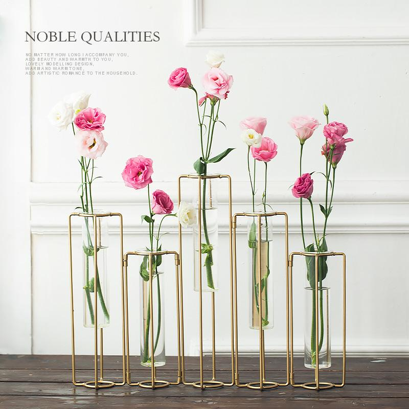 Modern Style Tabletop Plant Bonsai Flower Glass Vase Wedding