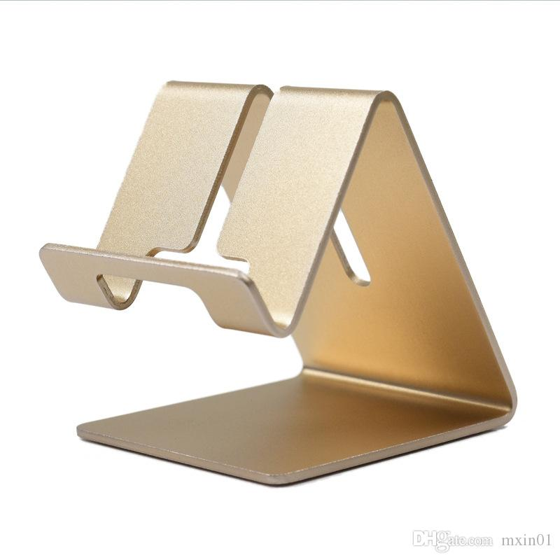 Universal Aluminum Metal Mobile Phone Tablet Holder Desk Stand for iPhone X 8 7 iPad Samsung S8 S9 Plus Huawei XiaoMi E-book Galaxy Tab