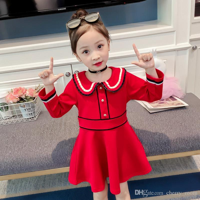 266e8fee5d4f 2019 Autumn New Kids Girls Princess Dress Christmas Long Sleeve ...