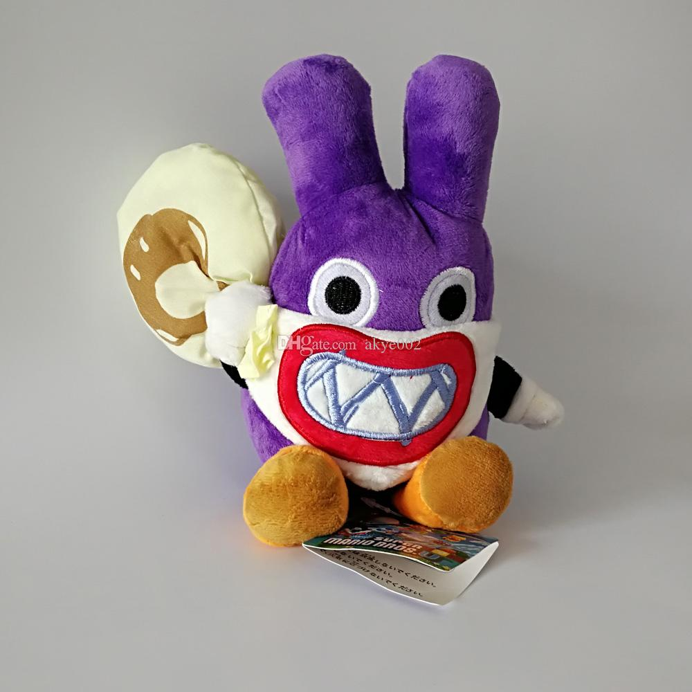 """Hot Sale 9"""" 23CM Super Mario Bros Thief Nabbit Rabbit Plush Stuffed Doll Toy For Kids Best Holiday Gifts Wholesale"""