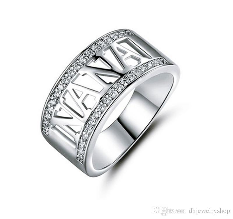 Großhandel Mode 925 Silber Ring Gefüllt Oma Nana Ring ...
