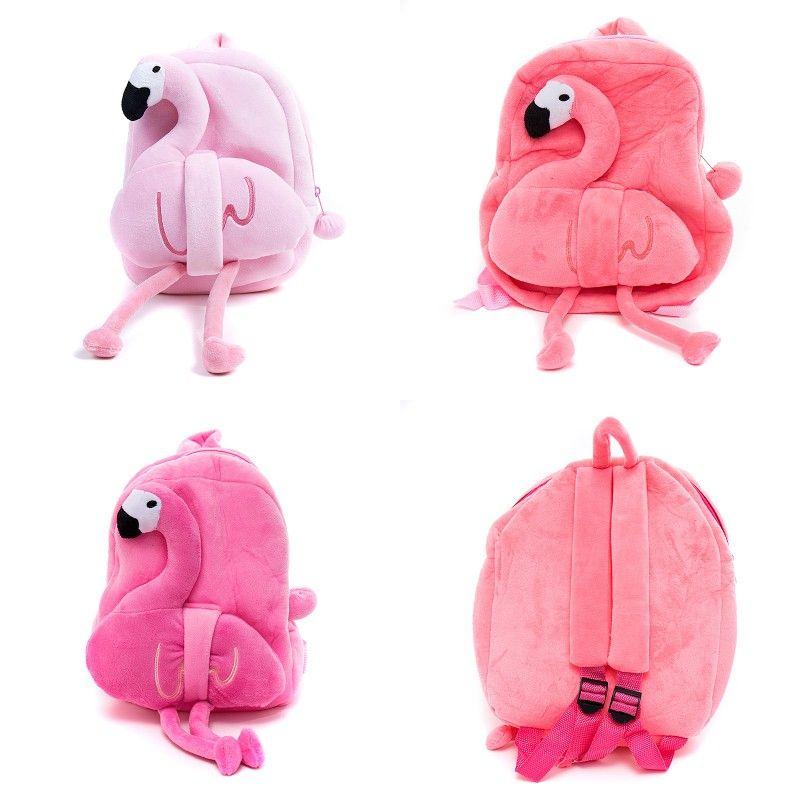 Cute Cartoon Flamingo Plush Backpack for Kids Plush Flamingo School ... 8332be780b500