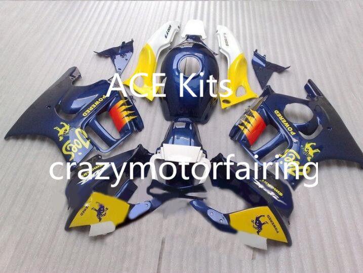 Motorcycle Fairing kit for HONDA CBR600F3 97 98 CBR600 F3 CBR 600F3 1997 1998 ABS hot Blue White Fairings set+3gifts 41