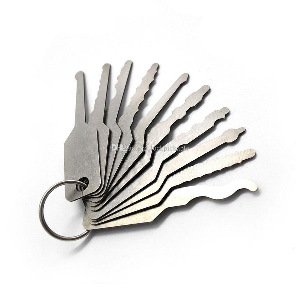 Auto Jigglers 10 pezzi Tryout Keys auto - Master Key Fabbro Auto Jigglers Car Door Openers Fabbri automobilistici