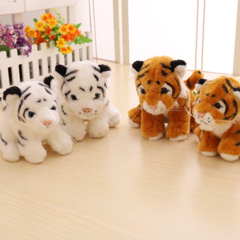 2019 Stuffed Animals Tiger Plush Toys Pillow Cartoon Animal White