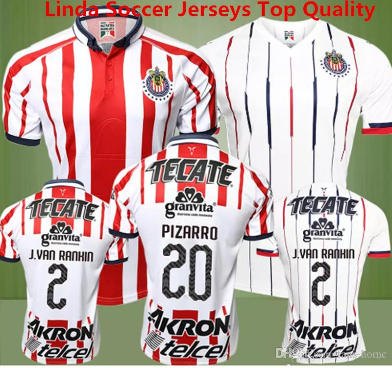 d4bfe89a63d 2019 Soccer Jersey Chivas Guadalajara Camisetas De Futbol 2018 2019 Chivas  New Red Jersey Deportivo O.BRAVO REYNA PULIDO E.LOPEZ Mexico MX Shirts From  Fans ...