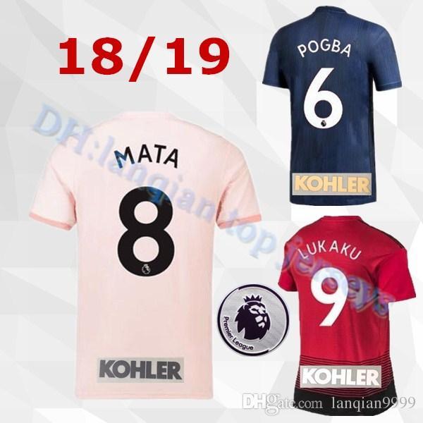 a0df8c63 Acquista Manchester United Jersey 2018 2019 Man Soccer 6 POGBA 9 LUKAKU 11  MARTIAL 14 LINGARD 10 RASHFORD Maglia Da Calcio Kit Uniform Team Rosso A  $15.92 ...